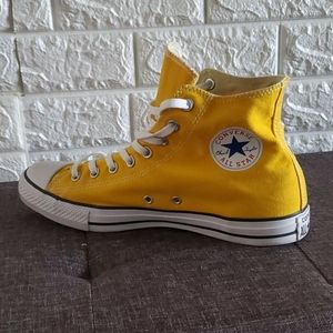 Yellow Chuck Taylor Hi Tops